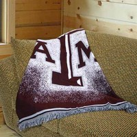"Texas A&M Aggies 48"" x 60"" Focus Series Acrylic Triple Woven Blanket Throw"