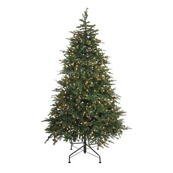 6.5' Pre-Lit Hunter Fir Artificial Full Christmas Tree - Clear Lights