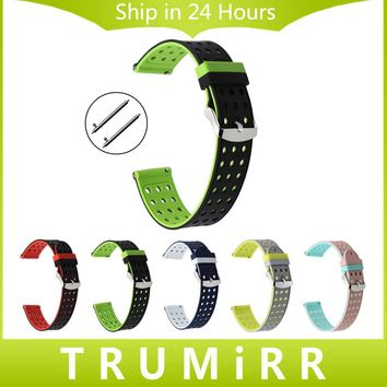 Quick Release Silicone Rubber Watchband Universal Watch Band Sports Strap Wrist Bracelet 17mm 18mm 19mm 20mm 21mm 22mm 23mm 24mm