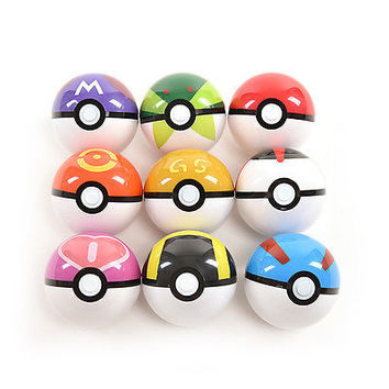 Hot Action Anime Figures Balls for Pokemon Plastic Super Ball Kids Toys Gift