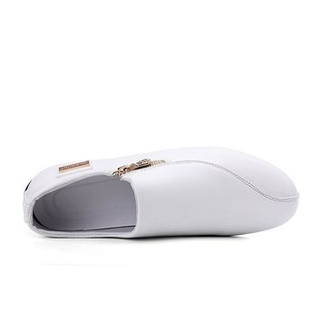 Men Flats White Casual Platform Pointed Shoes size 789