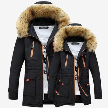 Fur Hooded Thick Warm Winter Jackets