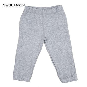 YWHUANSEN Solid Color Pants For Boy Cotton Children's Trousers Elastic Leg Opening Pantyhose For Boy Thick Baby Boy Winter Cloth