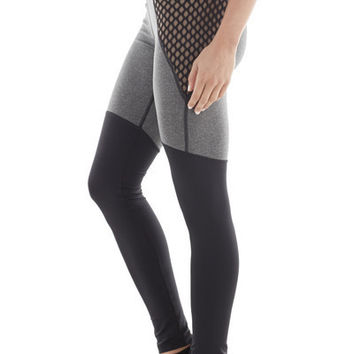 Michi Shadow Leggings | Designer Black and Grey Leggings