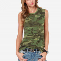 Causal Camouflage Tank Top