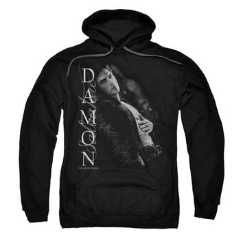 Vampire Diaries Men's  Besides Me Hooded Sweatshirt Black