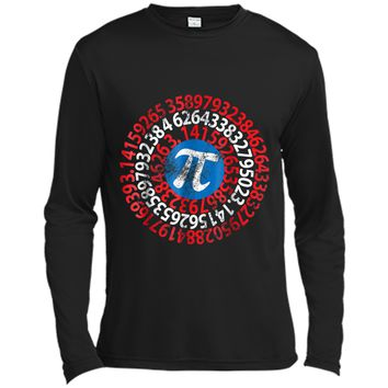 Captain Pi 3.14 Nerdy Geeky Nerd Geek Math Student Tee Long Sleeve Moisture Absorbing Shirt