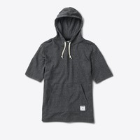 Speckle Hooded Shirt in Black