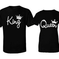 Couple T-Shirt King and Queen - Love Matching Shirts Couple Tee Tops
