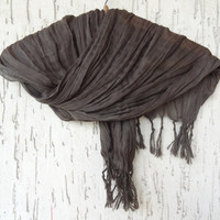 Handwoven infinity scarf,  Brown Scarves, Natural,Organic Scarf, Fashion accessories, Women Scarves