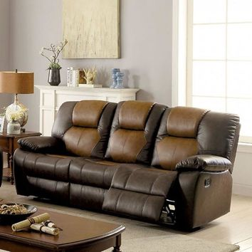 Pollux Recling Dark Brown and Light Brown Sofa