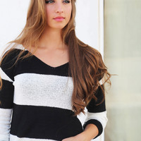 Black + Stripes Knit