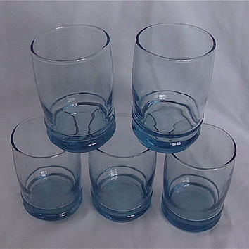 Vintage Anchor Hocking Saturn Blue Juice Glasses – Set of 5