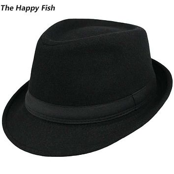 Original Unisex Structured Wool Fedora Hat Fedora hats for men fedora felt hat head size 58 cm