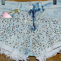 SHINE BRIGHT HIGH WAIST SHORTS