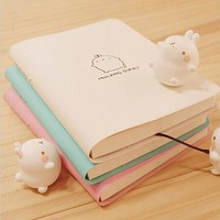 Cute Kawaii Notebook Cartoon Molang Rabbit Journal  Diary Planner Notepad for Kids Gift Korean Stationery Three Covers