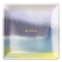 Fringe Studio 'Be Still' Glass Trinket Tray - Blue