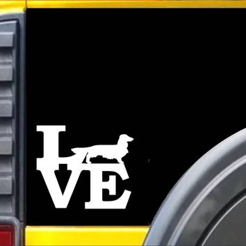Longhaired Dachshund Love Decal Sticker *I854*