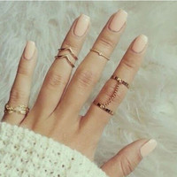 6pcs Stacking Midi Finger Knuckle Rings
