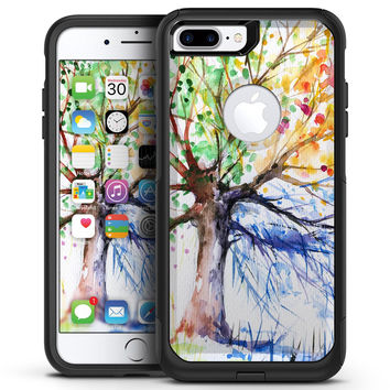 WaterColor Vivid Tree - iPhone 7 or 7 Plus Commuter Case Skin Kit