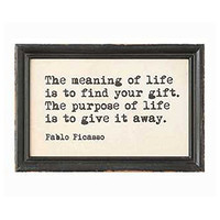 Authors and Artists Famous Quotations - Decorative Framed Wall Decor 9-in x 6-in (Pablo Picasso)