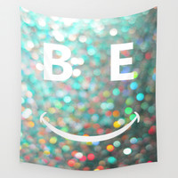 BE HAPPY Wall Tapestry by RichCaspian