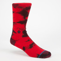 Stance Burnout Mens Ahtletic Crew Socks Red One Size For Men 24711030001