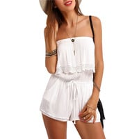 Giana White Romper