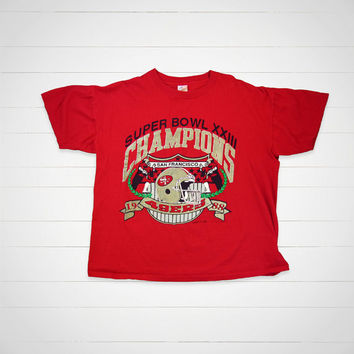 80s Vintage 49ers T-Shirt / 1988 Super Bowl San Francisco 49ers vintage tee by Logo 7 Inc  / Made in USA