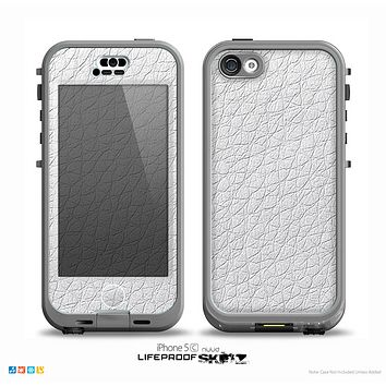The White Leather Texture Skin for the iPhone 5c nüüd LifeProof Case