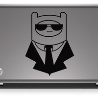 Adventure Time Finn Suit & Shades Die Cut Vinyl Decal Sticker
