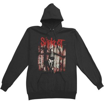 Slipknot Men's  Gray Chapter Skeleton Hooded Sweatshirt Black