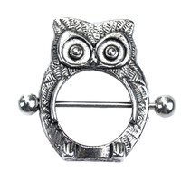 1PC Owl Nipple Shield Bar Ring Body Jewellery Nipple Piercing