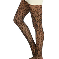 Leopard Openwork Tight | Shop Accessories at Wet Seal