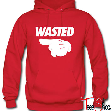 Wasted Pointing Left Hoodie