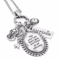 Inspirational Quote Necklace - No one can hurt you