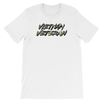 VIETNAM VETERAN : RUGGED LOGO STYLE : Short-Sleeve Unisex T-Shirt