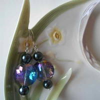 Rainbow crystal earrings, rainbow earrings, fantasy earrings