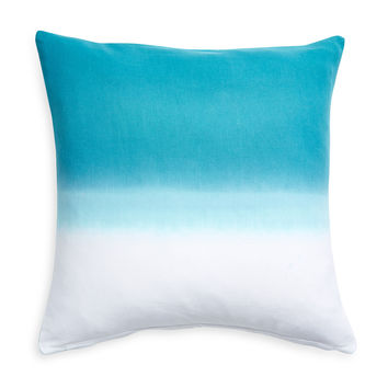 Nine Space Dip Dye Decorative Pillow Cover - Bright Blue