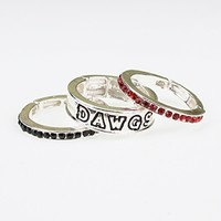 Georgia Stackable Stretch Ring Trio Set | UGA Rings | Georgia Bulldogs Rings