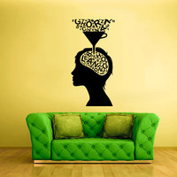 Wall Vinyl Sticker Decals Decor Art Bedroom Design Mural Design  Head Thinking Learning Mind (z2024)