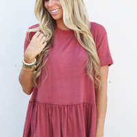 Ruffle Your Feathers Top {Brick Red}