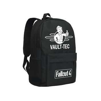 Vault Boy Backpack For Boys and Girls Oxford Mochila Famouse Computer Game Fallout 4 Children Bookbag Kids Shoulder Bags Laptop