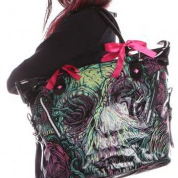 Iron Fist Santeria Voodoo Goth Hand-bag Vegan Purse with Adjustable Shoulder Strap
