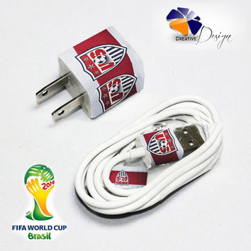 USA National Soccer Team Iphone Chager and Cable