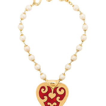 Yves Saint Laurent Vintage Lover Pearls Necklace - Farfetch