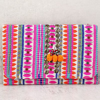Lakshmi Fuchsia Embroidered Clutch