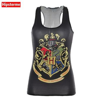 Hipsterme Summer Sexy tank top workout Harry Potter Prince school badge 3D print sleeveless tops Girl singlet Women camisolas