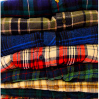 FLANNEL SHIRT Mystery Vintage Button Down Grunge Hipster Indie Flannel Shirt