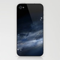 blue galaxy iPhone & iPod Skin by Sarah Sahne | Society6